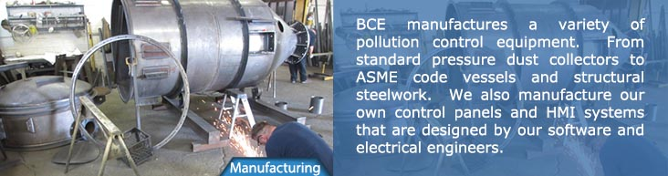 BCE Manufacturing - Custom fabrication of pollution control systems